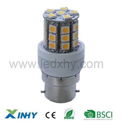 Express livraison gratuite 5w baïonnette. b22 conduit ampoules de maïs gradable/non- dimmable 30 5050 smd.