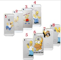Hot 2014 top fasion Transparent TPU soft shell cover 8 case simpsons the homer simpson gasp logo Foriphone 5 5s 5G, cover2