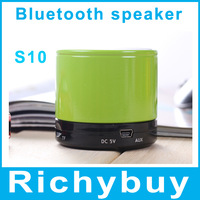 mini S10 bluetooth speaker portable wireless speaker for MP3/ipad/iphone support phone call with built-in battery