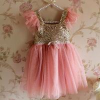 Momo - 2014 New summer Hot sale!! girls Boutique Fashion Princess dress, sequiend dresses girl party dresses