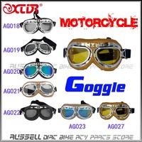 Motorcycle goggles racing bicycle bike Scooter Steampunk Cruiser Helmet Eyewear glasses