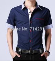 High quality  Mens Fashion Cotton Designer Cross Line Slim Fit Dress man Shirts Tops Western Casual New