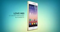 Original Love mei Aluminum 0.7mm Ultra-thin Metal Bumper case For Huawei Ascend P7 Retail Package Free Shipping