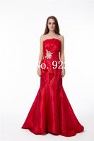 Long evening elegant dress sexy red evening dress 2014 women plus size evening dress