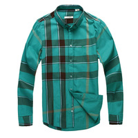 Free shipping B CASUAL 2013 Summer Brand New designer Luxury Fashion Genuine Men Mens long sleeves plaid shirt shirts