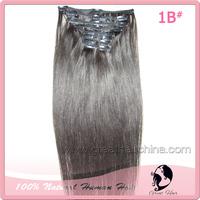 Free Shipping 10Pcs/Set 22 inch 100gram Natural Straight 4 Color Brasileira Virgem Cabelo Humano Hair Clip in Hair Extensions