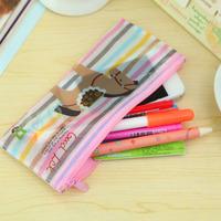Student pencil case/pen bag school small horse cartoon mesh bag zipper bag wholesale 19*8cm Free shipping OF005B6