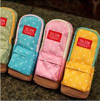 8PCS/LOT Korean Stationery Fashion Dot Oxford School Pencil Case Pencil Bag LJ09370