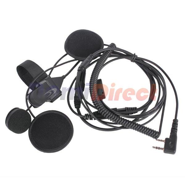 Walkie Talkie accessories 2 Pin PTT Motorcycle Helmet Headset for baofeng two way radio CB Ham Radio Earphones(China (Mainland))