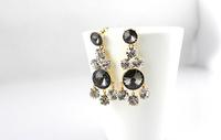 Vintage  Luxury Style Night Multicolor Style Austria Crystal Drop Earrings JC5606