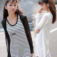 Women Cardigans Blouses And Shirts KimonoLadies Summer Chiffon BlousesFemininas Long Sleeve Shirt  Blusinhas Femininas Cardigan