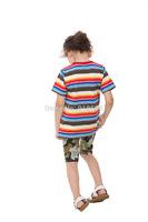 2014 Summer New Children's Short-sleeved T-shirt Latest European Style Cotton Round Neck Short Sleeve T-shirt Cartoon Boy