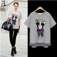 2014 Summer new arrival  Glass dog women female  cotton  T shirt
