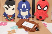 HERO BM/ spider-man/superman/Green Lantern/ American Captain  PVC luggage tags/  Travel Name Tag