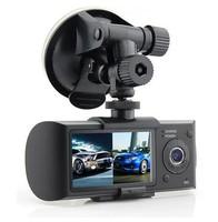 2.7 Inch TFT 5.0M Pixel 1080P Full HD Dual Lens GPS Tracker Auto DVR Camera Free Shipping