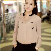 2014 new summer hot!blouse Free shipping selling good quality fashion OL chiffon shirt Free Shipping