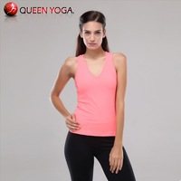 2014 Hot Sexy women V neck tops for summer.Casual Racerback tank.Ladies plus size Yoga/Gym Vest