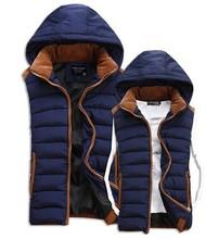 2014 new winter vest men Warm Man's outdoors down jacket   Fashion Waistcoat ,   men vest slim casual waistcoat  free shipping(China (Mainland))