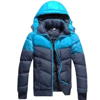 New Arrive Men Wear Thick Winter brand Outdoor Windbreaker Coats down jacket men brand sport Black/blue Extra Size