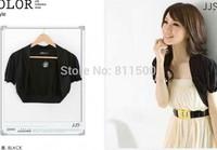 2014 korean short-sleeved outwear shawl summer women jacket coats shrug boleros for dresses and tops