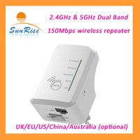 dual band wireless repeater 2.4G/5G AP router 150Mbps wireless mini design for travel use with UK/EU/US/China/Australia plug