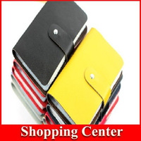 Freeshipping 2014 wholesale Men&Women's 96 Card places Genuine Leather Card Holder Bank Credit Business Card Bag Big Capacity