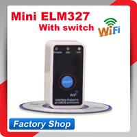 2014 new arrival ELM327 V2.1 Super MINI WIFI ON/OFF Switch ELM327 WIFI OBD2 / OBDII ELM 327 Car Scanner