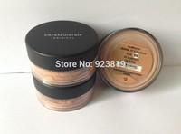 New Prevent bask loose powder,bareMinerals bare Minerals Escentuals SPF15 Foundation, (2pcs/lots) tan color