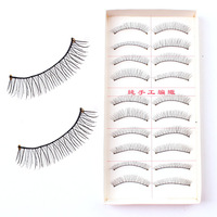Fashion Natural Handmade Black False Eyelashes Soft Long Thin Artificial Eyelashes