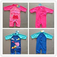 Ready send out Free shipping children kids girls boys Peppa pig George pig bathers swimwear beach wear