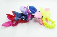 3 PCS Cute Mini Bunny Ears Shape Solid Monochrome Hair Rope Hair Accessories Headwear Bow Rubber Band