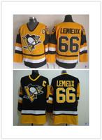 Ice Hockey Jersey Pittsburgh Penguins 66 Mario Lemieux Hockey jersey,Embroidery logos Cheap Hockey jerseys nhl jersey