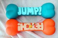 2014 Eco-friendly rubber vigor letter big bone vocalization pet toy dog toy vocalization molar chewing gum