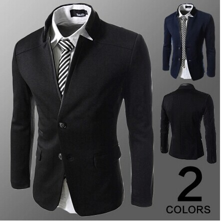 Designer Clothes Cheap For Men Men Black Slim Fit Blazer