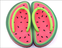 Cartoon fruit style EVA flip flops women ladies slippers women house slippers as woman favourite sandals in summer.