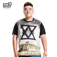 Thepang men's plus size clothing summer geometric figure t-shirt plus size plus size short-sleeve t