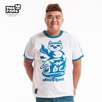 Thepang men's plus size clothing 2014 summer plus size plus size flower animal casual t-shirt short-sleeve