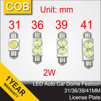 Free Shipping 31mm 36mm 39mm 41mm LED Dome Festoon Interior Light High Power COB Reading License Plate Bulbs Auto Roof