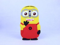 Cartoon Despicable Me Yellow Minions Two Eye Hello Kitty Stitch Winnie The Pooh Soft Rubber Silicon Back Cases For LG G2 Optimus