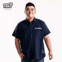 Thepang men's plus size clothing short-sleeve shirt plus size plus size male shirt thin summer shirt male