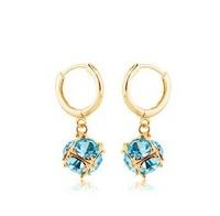 Luxurious Style Ladylike Party Wear Happiness Cube Shaped Imitation Crystal Dangle Earrings For Women JC5165