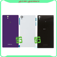 For Sony Xperia Z1 L39H L39 Battery Housing Door Back Cover Rear Case white for Sony, Free shipping + tracking NO
