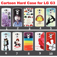 For LG G3 New 2014 Fashion Plastic 3D Cartoon Printed Back Phone Cases Cover For LG G3 Case 20 Styles Free Shipping
