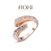 ROXI fashion elegant rose gold plated ring ,set with AAA zircon cystal,fashion wedding Jewelry,gift ,2010280190b