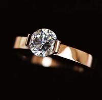 A carat rose gold ring female wedding ring