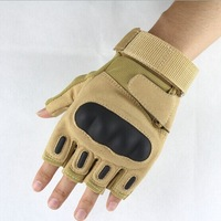 2014 U.S. Military Tactical Gloves Army Motorcycle Cycling Carbon Leather Half Finger Yellow color