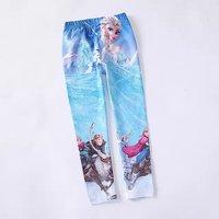 Baby leggings Kid pants 2014 new Full Length girl frozen leggings elsa frozen pants Elastic waist cotton leggings kids