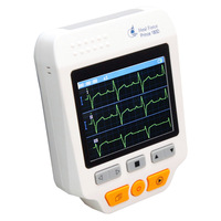 3.5 inch color LCD screen the 3 channel fast ECG detector, detecting and recording heart rate and ECG waveform
