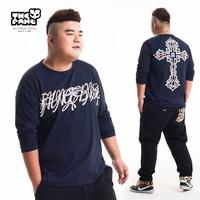 Thepang plus size male T-shirt long-sleeve round neck T-shirt shirt Large basic shirt plus size plus size