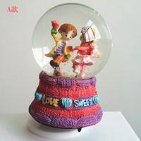 New 2014 baby kids'Crystal ball Swivel music box Toys birthday Xmas gift Adult'Snowflake Luminous Valentine's Day weddings gifts